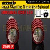 93 Çakarlı Kırmızı Tek Duy Geri Vites Ve Stop Cree Led Ampul Crm10086