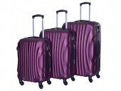 4 Tekerlekli Kırılmaz Valiz Seti Bordo Renk Bavul Gnza Nuovo