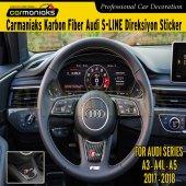 Audi Yeni A3 A4l A5 Karbon Direksiyon Sticker Slıne Crm7061