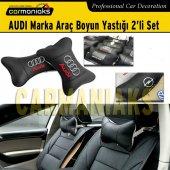 Carmaniaks Audi Marka Deri Boyun Yastığı 2li Set