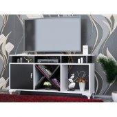 Tv Ünitesi Kamer Tasarım Beyaz Siyah