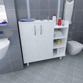 çok Amaçlı Dolap Banyo Mutfak Kiler Fidan Beyaz