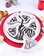 Seramik Zebra Desenli Kahvaltılık