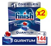 Finish Quantum 72 Adet 2'li Paket Bulaşık Makinesi Tableti 144 Adet