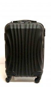 497c9806b6c07 Gnza 4 Tekerlekli Kırılmaz Orta Boy Siyah Renk Plastik Valiz