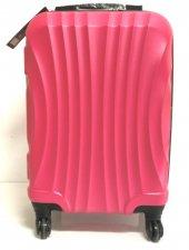 Gnza 4 Tekerlekli Kırılmaz Büyük Boy Pembe Renk Plastik Valiz