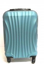 Gnza 4 Tekerlekli Kırılmaz Büyük Boy Petrol Mavisi Renk Plastik Valiz
