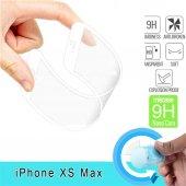 Apple İphone Xs Max 6.5 Fiber Nano Ekran Koruyucu Beyaz