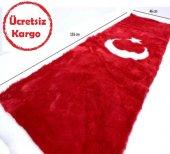 Torpido Üstü Peluş Örtü Türk Bayrağı