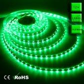 üç Çipli Dış Mekan Silikonlu Yeşil Şerit Led (5050) 5 Metre