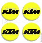 5 Cmlik Floresan Sarı Ktm Logolu Takoz Damla Sticker 4 Adet Stic