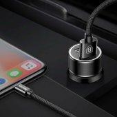Samsung A8 Plus Type C Araç Şarj Seti Baseus Small...