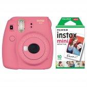 Fujifilm Instax Mini 9 Pembe Fotoğraf Makinesi & 10lu Film