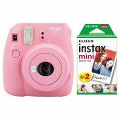 Fujifilm Instax Mini 9 Açık Pembe Fotoğraf Makinesi & 20li Film