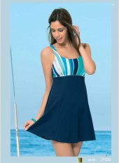 Endeep Kadın İçi Boş Elbise Mayo Bikini Mayokini 21535