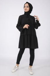 Loreen Kadın Siyah Tunik
