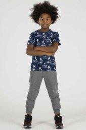 Tommy Life Palmiye Ağaç Baskılı İndigo Çocuk Tshirt