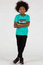 Tommy Life Yazı Baskılı Yeşil Çocuk Tshirt