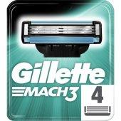 Gillette Mach3 Yedek 4 Lü Tıraş Bıçagı