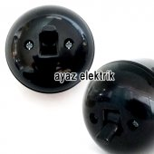Sıva Üstü Klasik Vavien Priz, Siyah Renk Eski Mode...