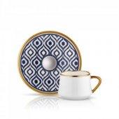 Koleksiyon Sufi 6lı Türk Kahve Seti İkat Antrasit