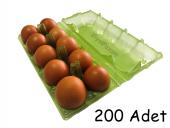 10 Lu Plastik Yeşil Yumurta Viyolü 200 Adet