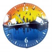 Istanbul Manzaralı Dekoratif Duvar Saati 36 Cm Hediyelik Duvar Saati Kutulu