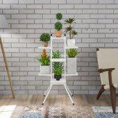 çağla 10 Lu Çiçek Bahçesi Bitki Saksı Standı