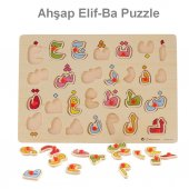 Ahşap Elif Ba Puzzle Eğitici Yapboz Oyuncak Ahşap Elif Ba Puzzle