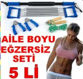 5 Li Vücut Egzersiz Seti Göğüs Yayı Bükbük El Yayı Seti
