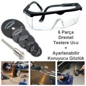 5 Adet Dremel Matkap Testere Diski + Koruyucu Gözlük Seti