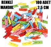 100 Adet Mini Mandal Renkli Mini Ahşap Mandal