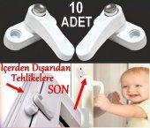 10 Adet Pvc Kapı Pencere Pimapen Çocuk Kilidi Düğmeli