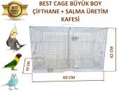 Best Cage Büyük Boy Bölmeli Çifthane, Salma Kafes 60x42x42 Beyaz