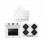 Ferre Ankastre Set Beyaz Cam Sofya (B Fmk600 + Ka0...