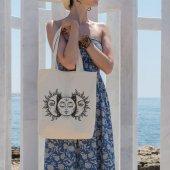 Angemiel Bag Güneşin İçindeki Güneş Alışveriş Plaj Bez Çanta
