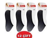 Babit Düz Renk Bayan Suba Çorap 12li Paket