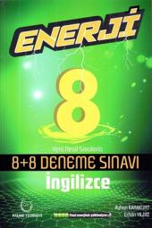8. Sınıf İngilizce Enerji 8+8 Deneme Sınavı Palme Kitabevi