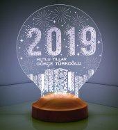 3d Led Lamba 3 Boyutlu Yeni Yıl Hediyesi 2019 City