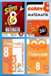 Süper 8. Sınıf Matematik Yeni Nesil Soru Kitabı 4lü Set Nitelik