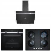 Siemens Siyah Ankastre Set (Hb534fer0t + Lc65ka670t + Eo6c6pb11o)
