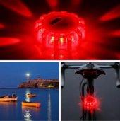 ıkon Pulsar Led Işıklı Çakarlı Uyarı Cihazı Bisiklet, Araba, Tekn