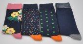 Kişiye Özel Desenli 4lü Kombin Erkek Çorap (Özel Üretim) #12