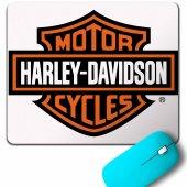 Harley Motorcycles Davidson Orange Bar Kartal Logo Mouse Pad