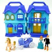 Vardem Işıklı Sesli İki Katlı Aksesuarlı Ev Mavi Bs866 5f