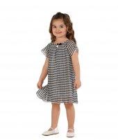 Zekids Kız Çocuk Pilise Çizgili Elbise