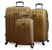 Tutqn Kırılmaz 3'lü Valiz Seti Gold (Büyük+orta+kabin)