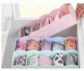 Plastik 5 Gözlü Çekmece İçi Çorap Kravat Düzenleyi...