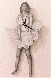 Marilyn Monroe Sallanır Sarkaçlı Duvar Saati