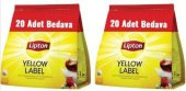 Lipton Yellow Label Demlik Poşet Çay 120li X 2 Adet